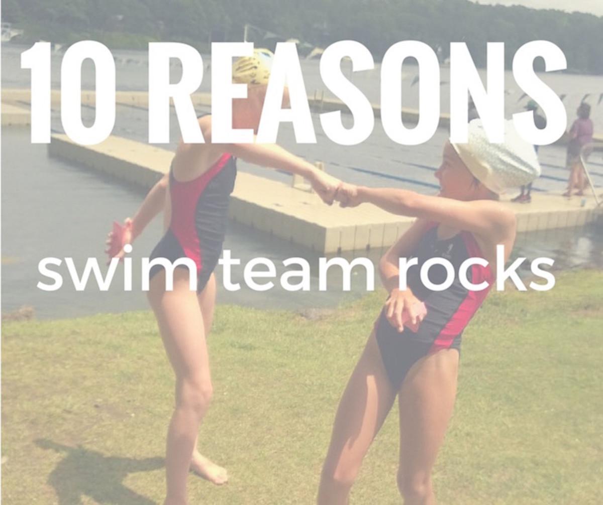 Swim Team Rocks