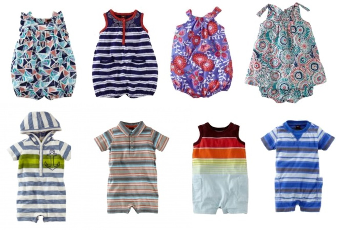 Tea Collection Rompers