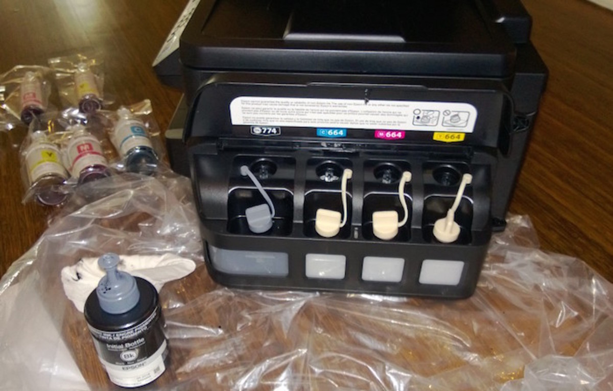 epson set up of ink