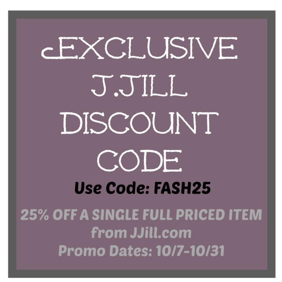 j.jill coupon code