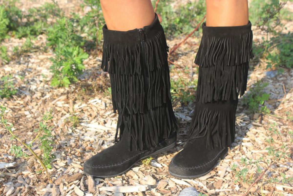 Bjorndal Black fringe boot