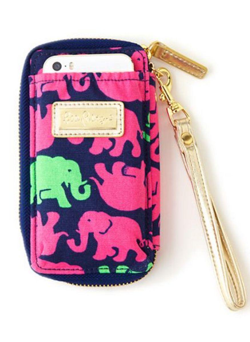 elephant wristlet lily pulitzer