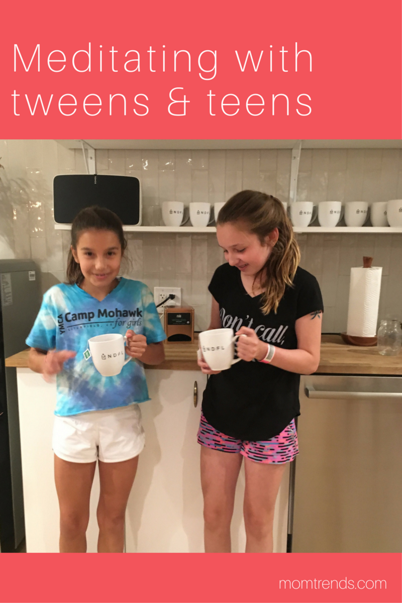 Tips for meditating with teens and tweens #mindfulness