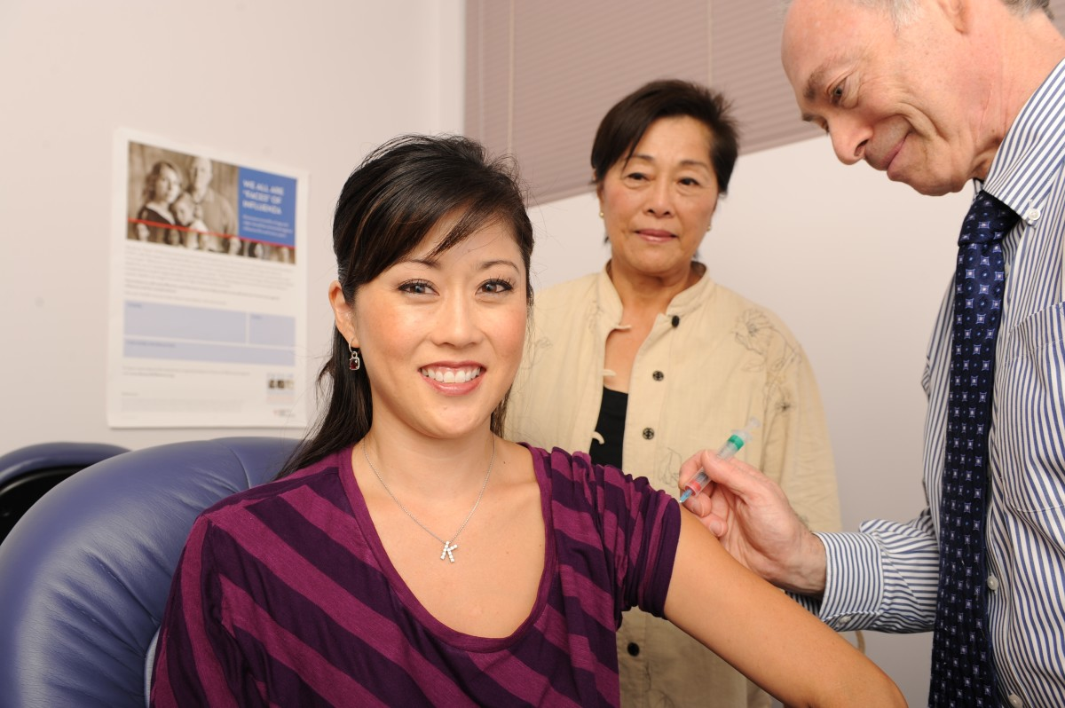 Kristi Y Gets Flu Shot