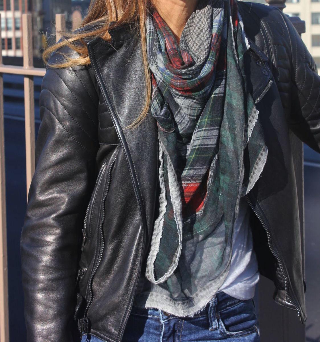 cool plaid scarf