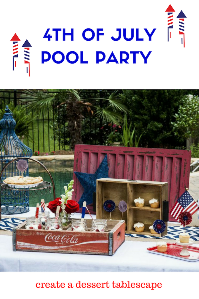 Throw a rustic 4th of july pool party