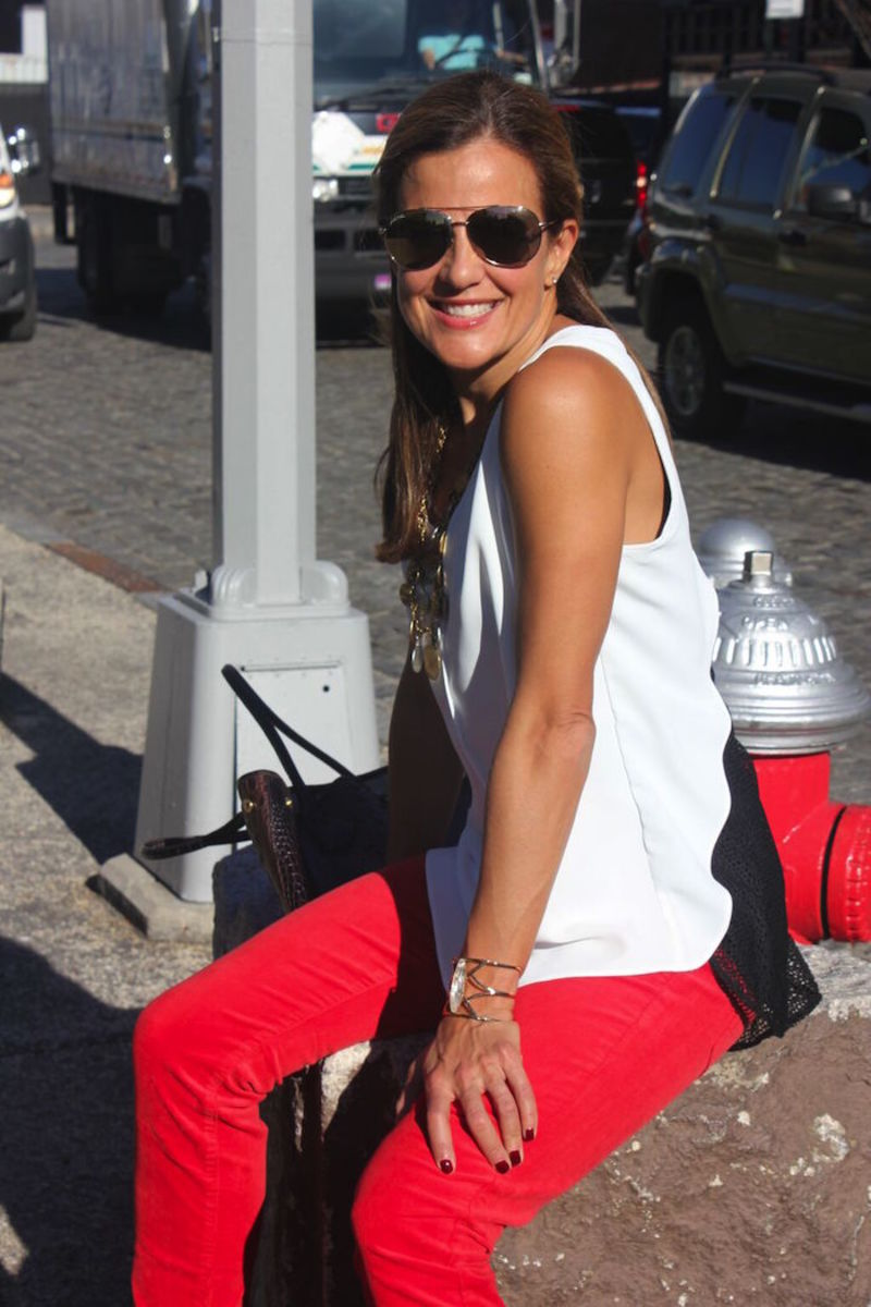 cabi red jeans