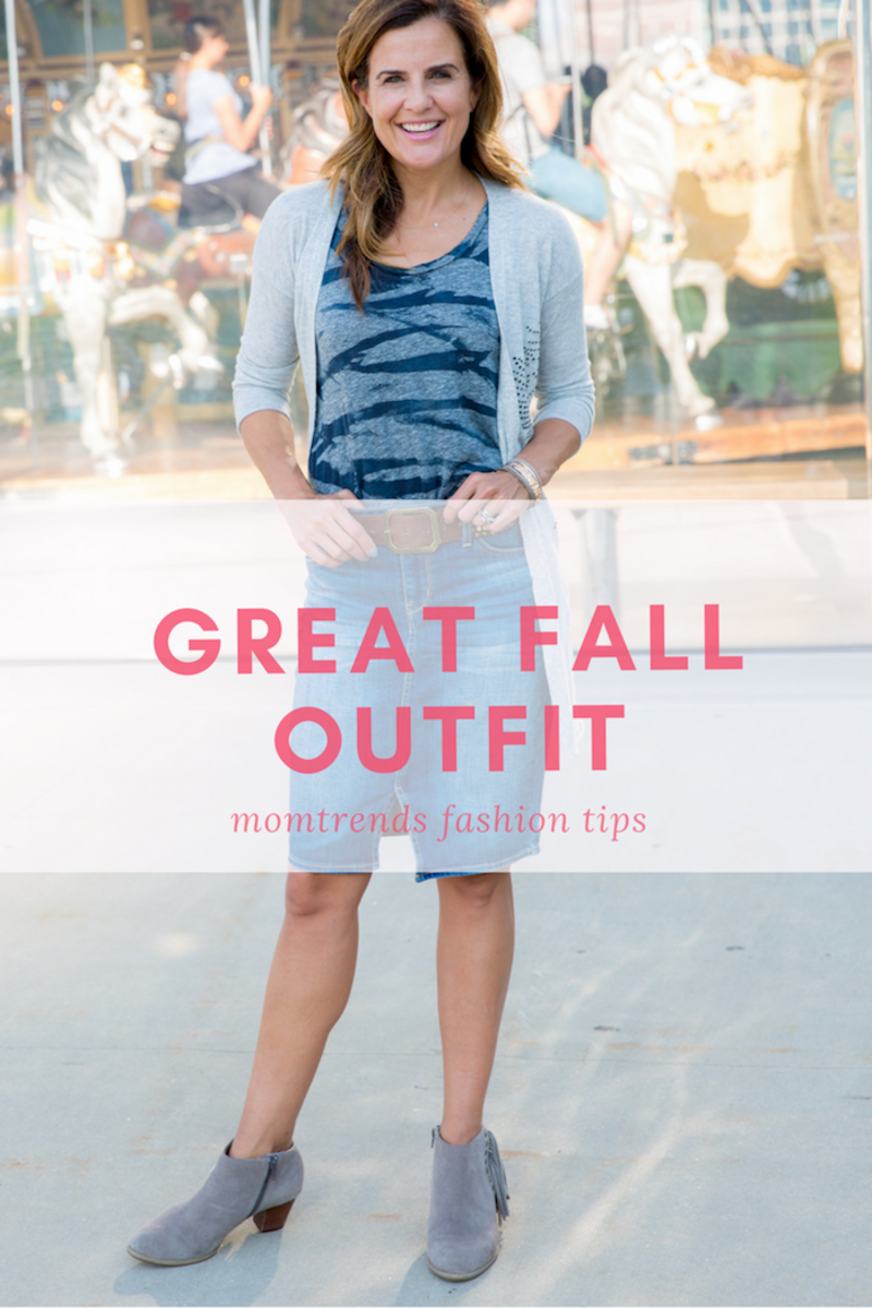 Great Denim Skirt for Fall