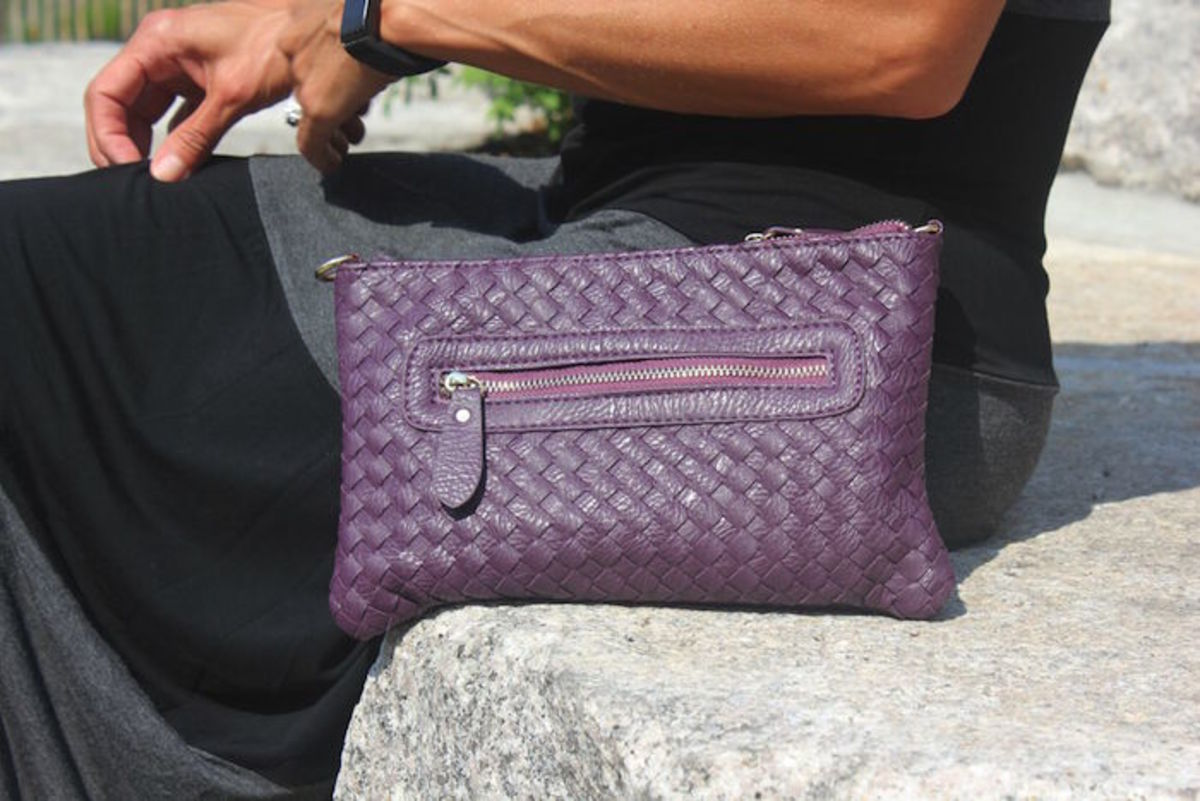cute purple handbag