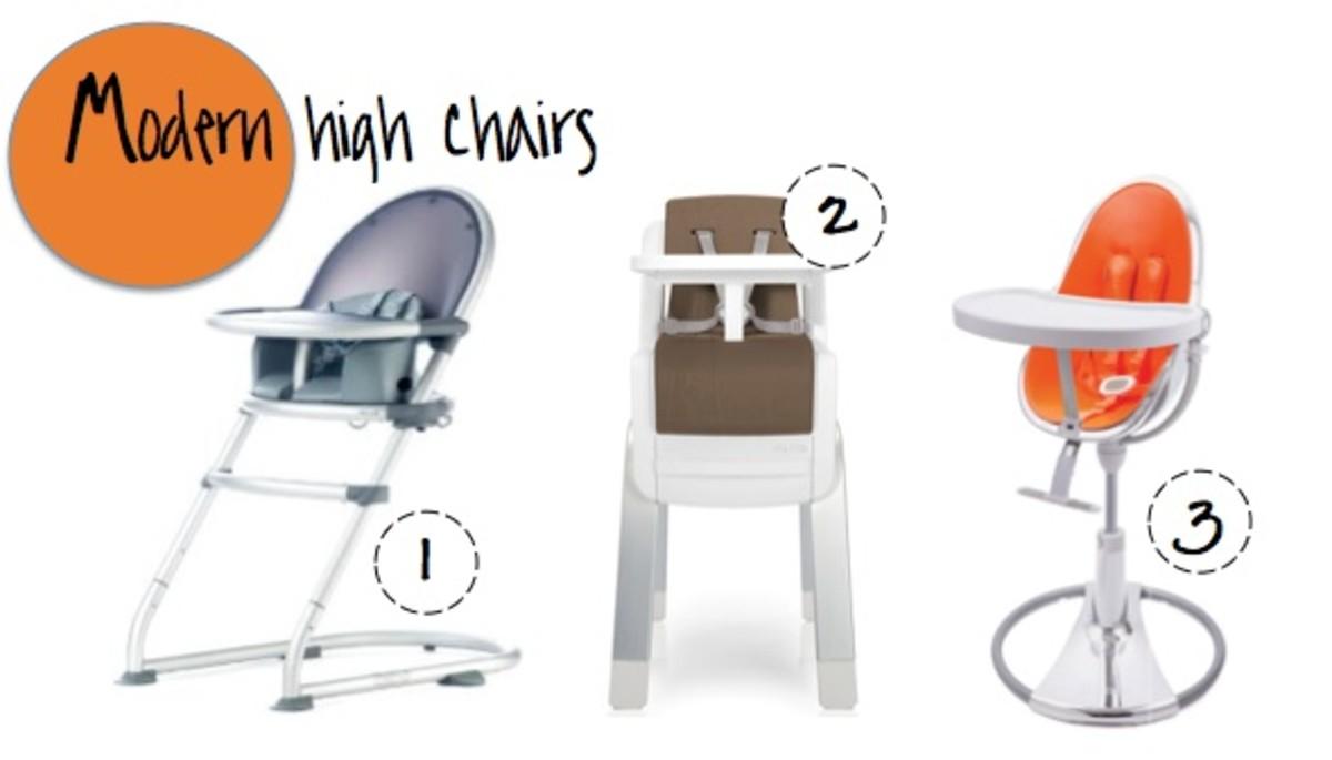 modern high chairs