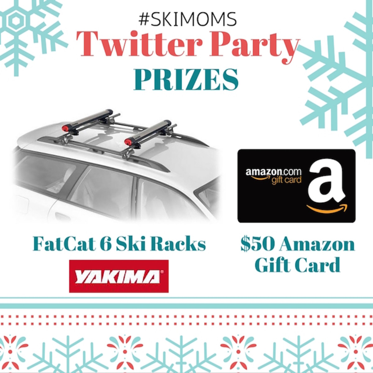 #SkiMoms Twitter Party Prizes- January 5th