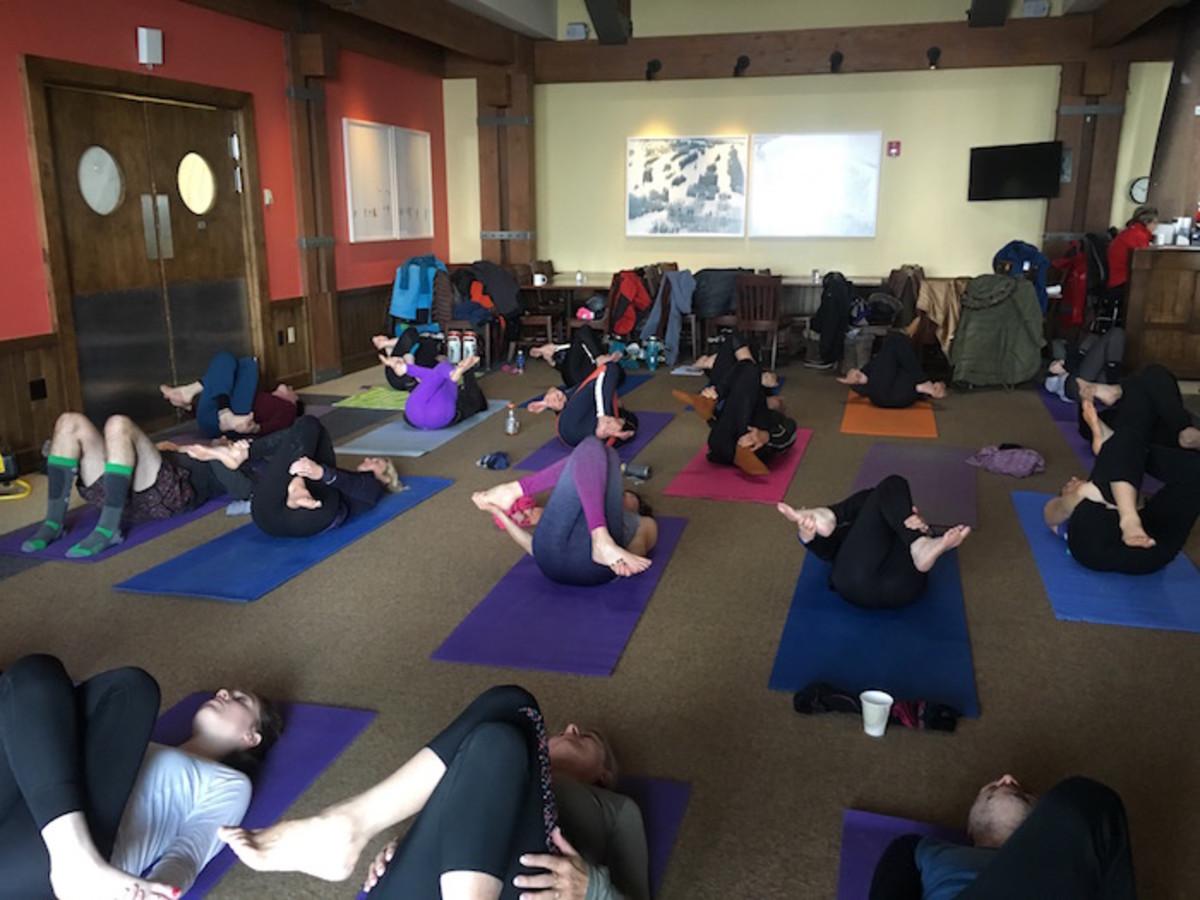 yoga at Aspen