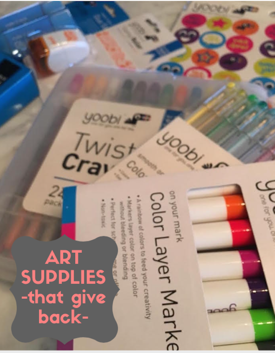 art supplies that give back