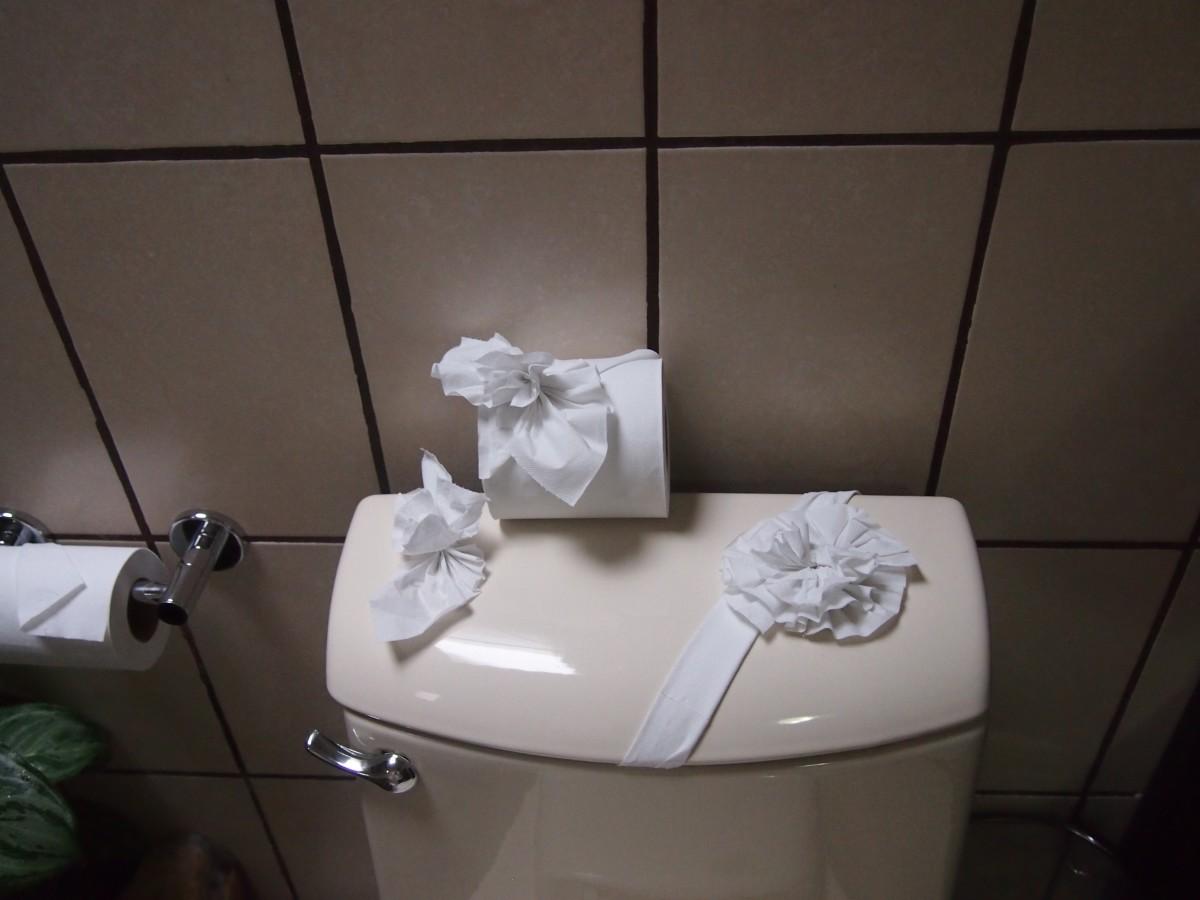 flower toilet paper fold