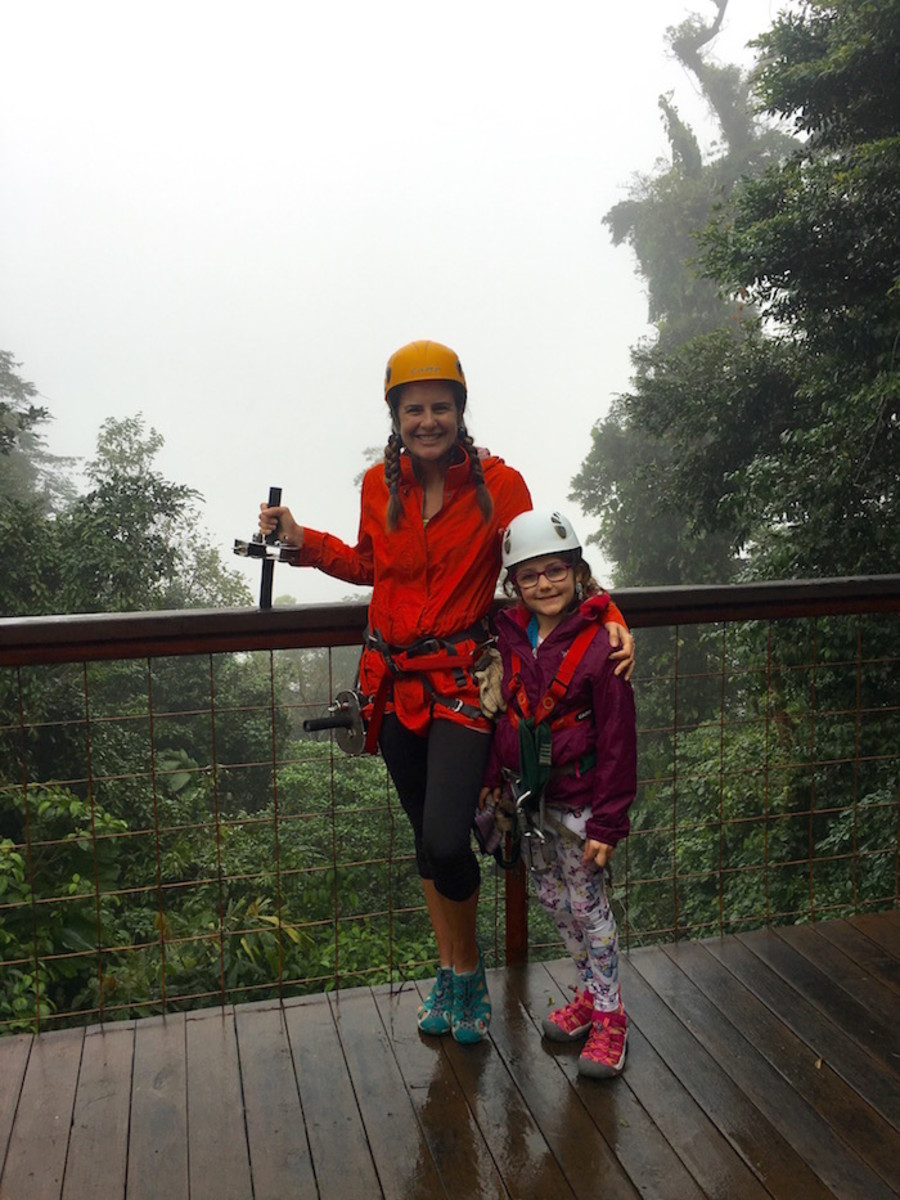 zip lining with kids costa rica