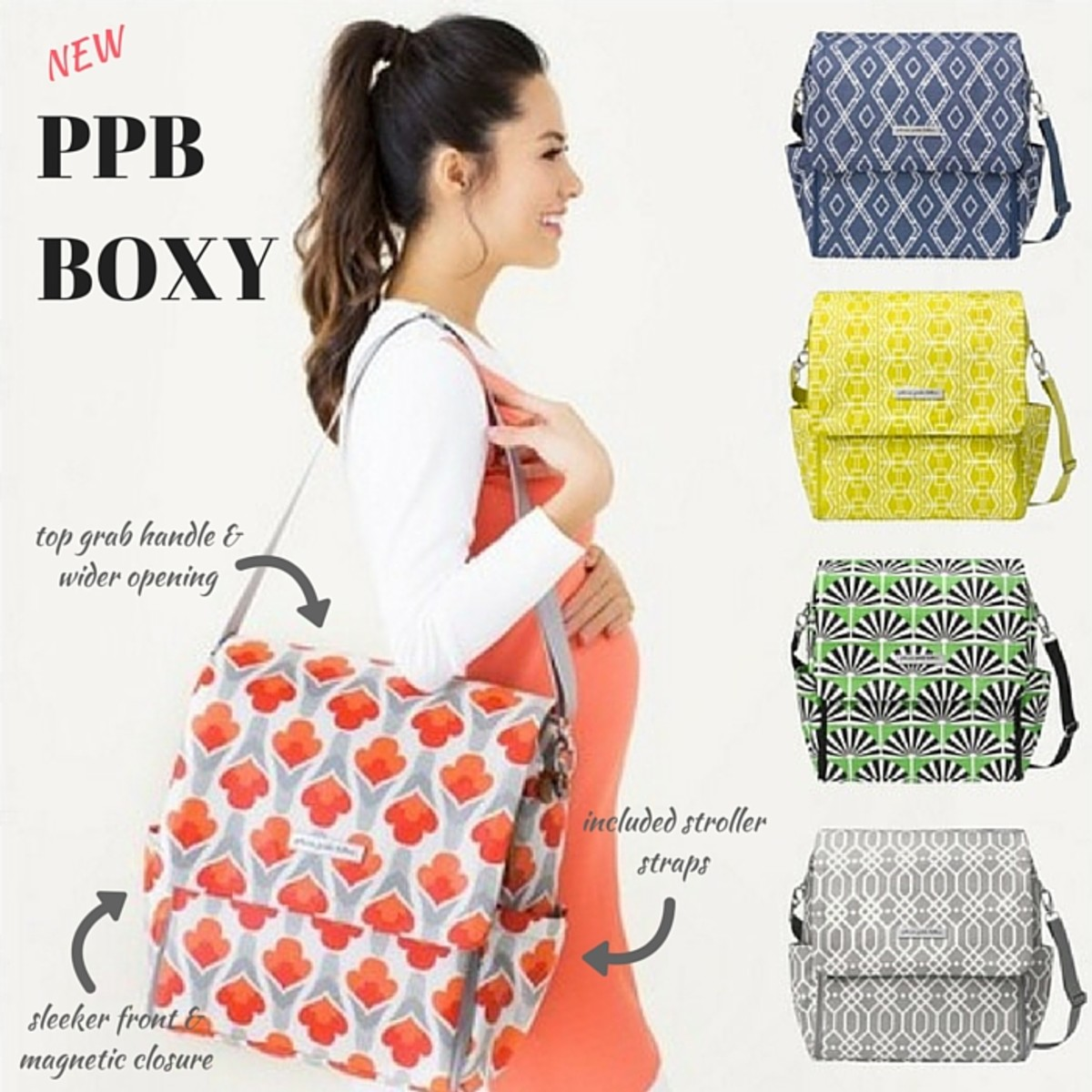 New Petunia Pickle Bottom Boxy Backpack