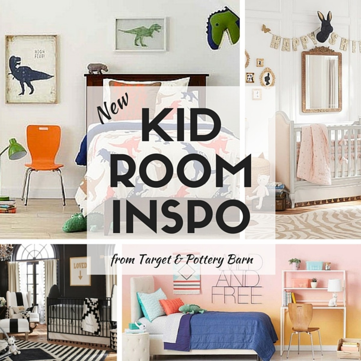 kid decor inspiration from target and pottery barn