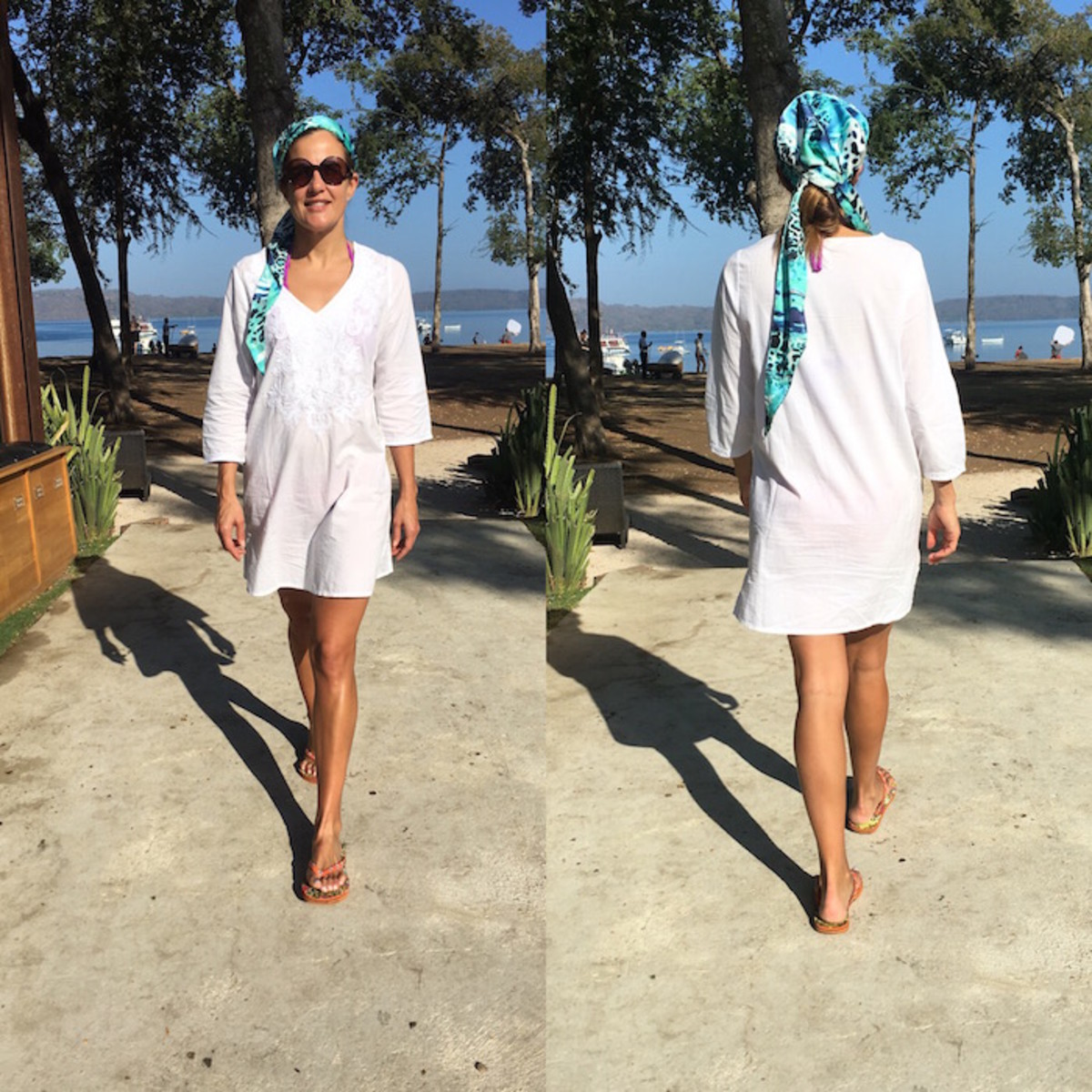 cute swimsuit with rashguard