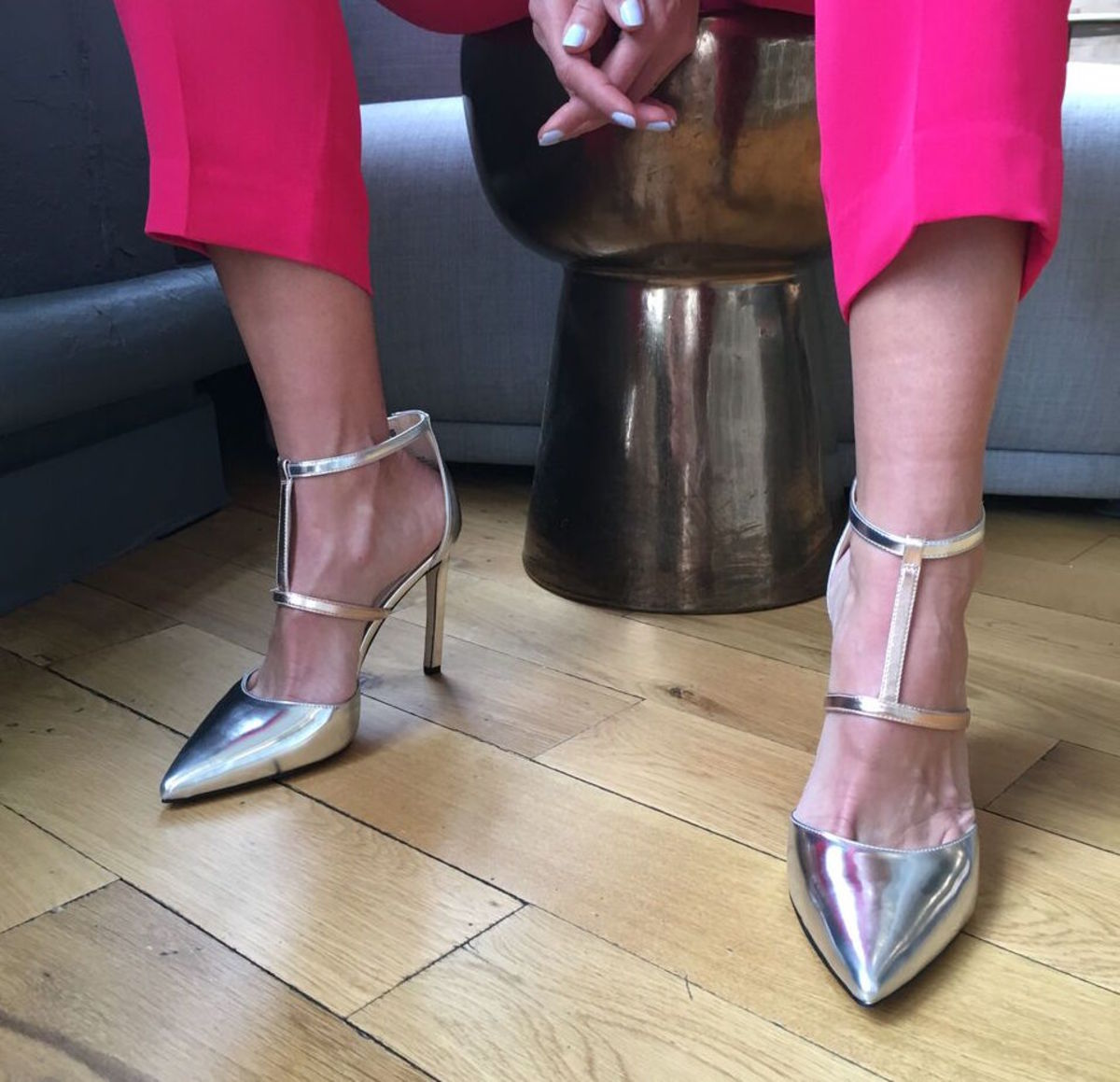 Nine West Metallic Heels