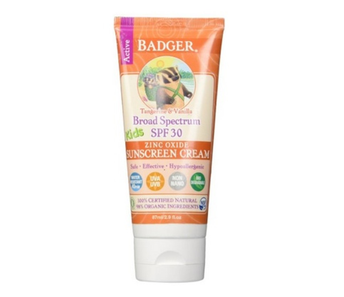 Badger Kids sunscreen