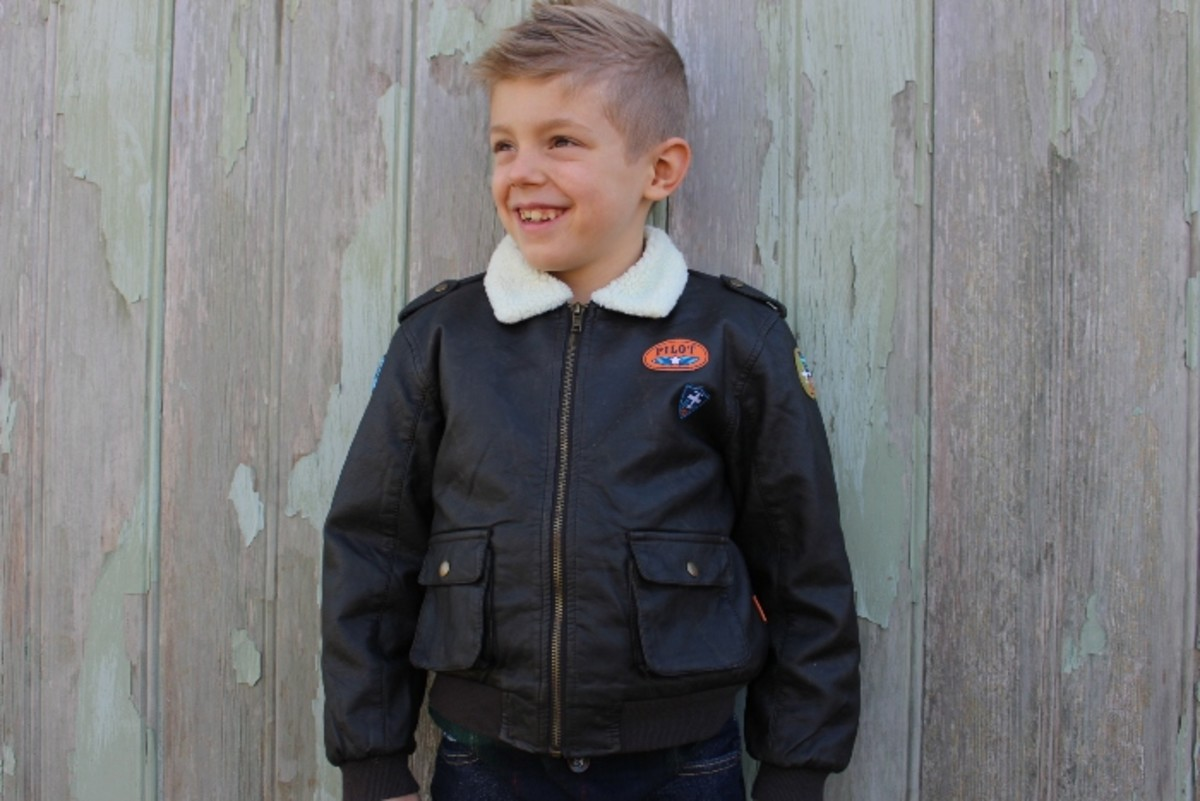 aviator jacket, holiday clothing, kids clothing le top