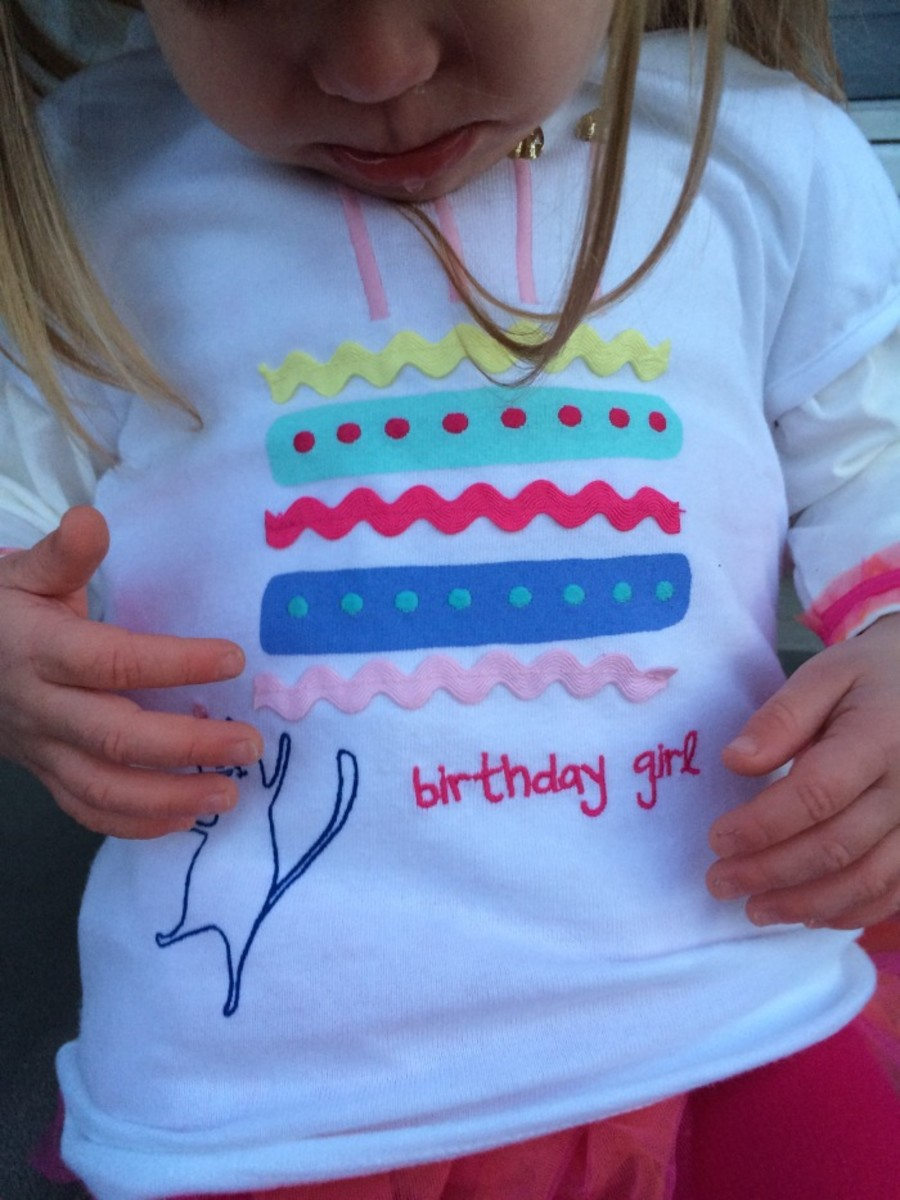 birthday girl, gifts for two, gymboree tee