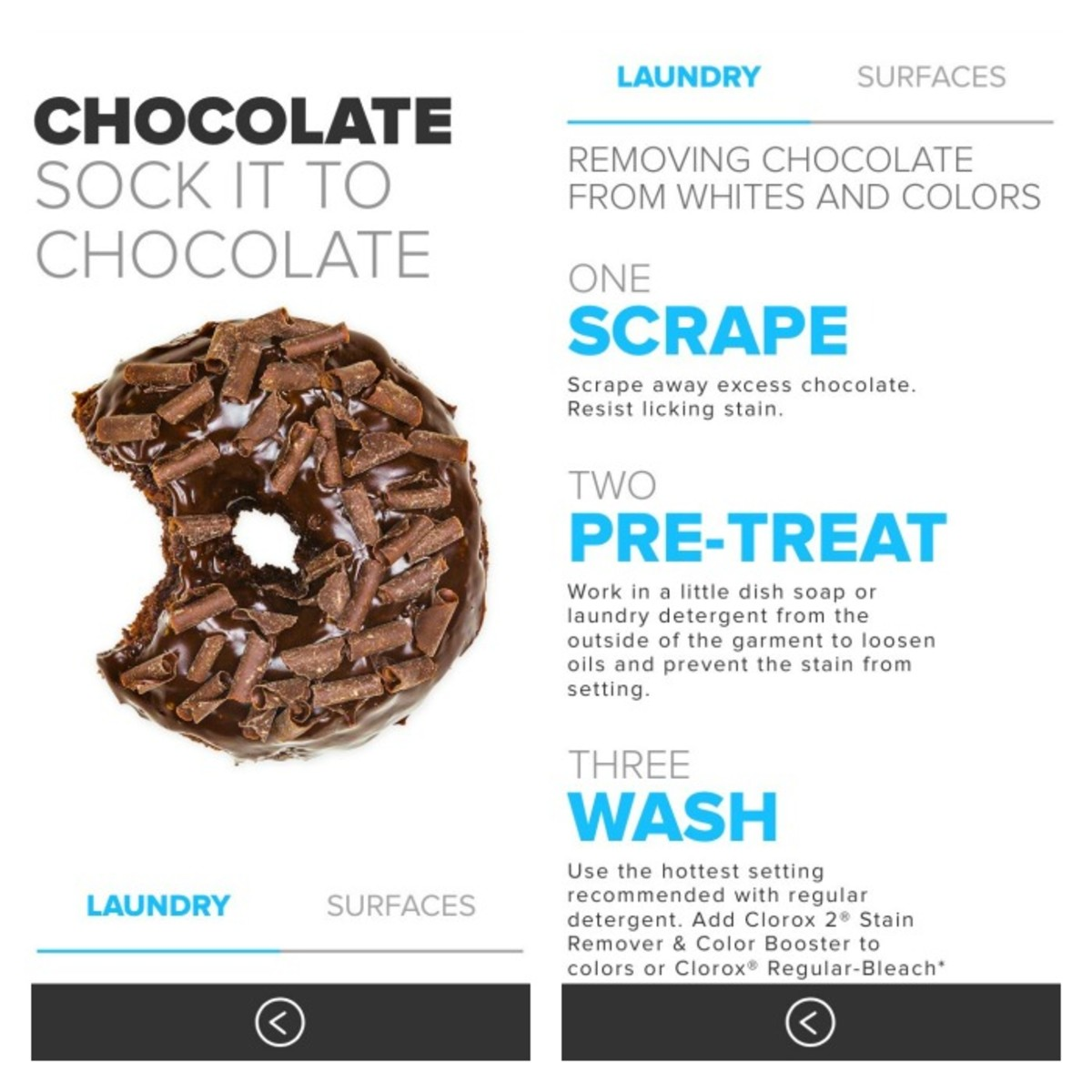 how to clean chocolate