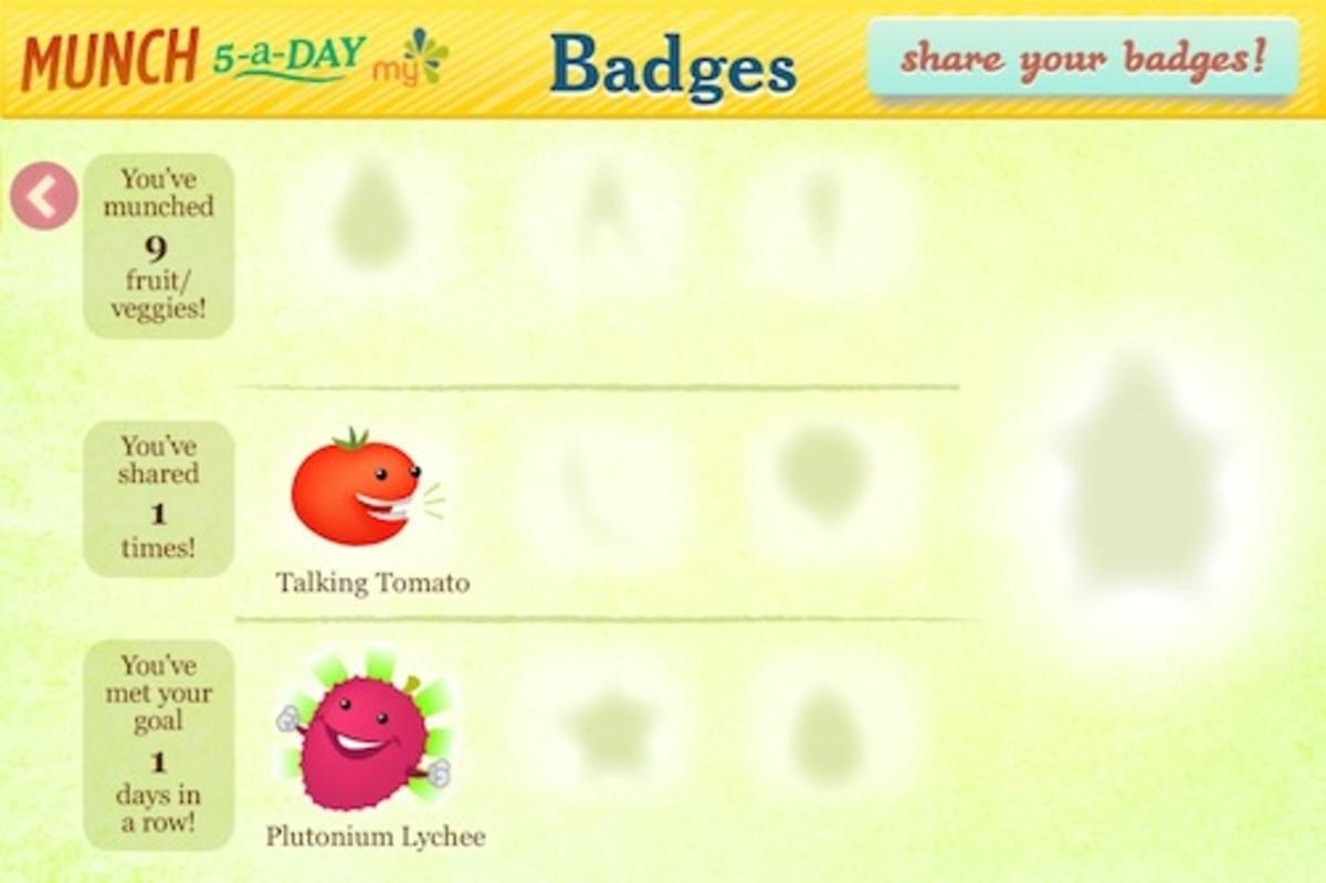 Munch 5 Badges