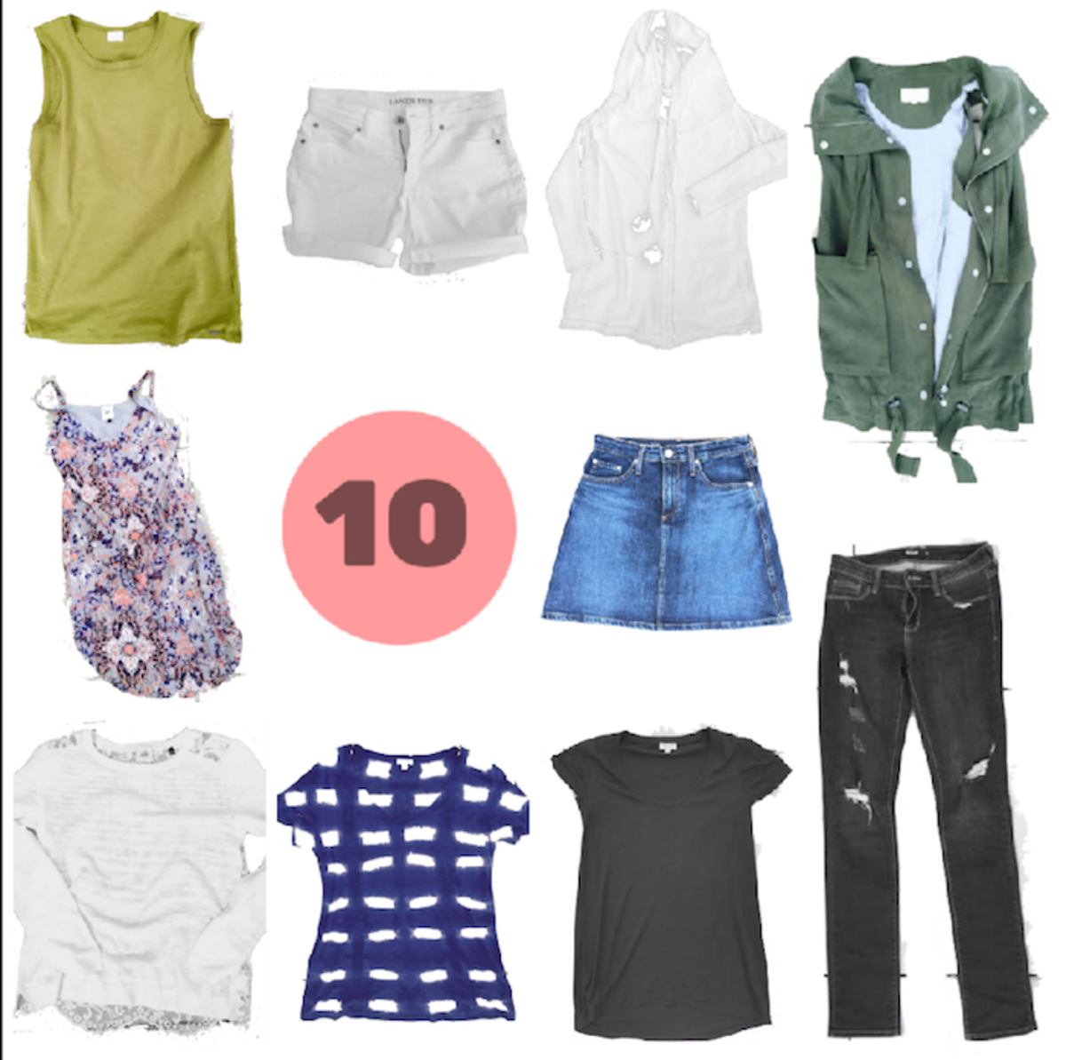 10 pieces spring capsule wardrobe