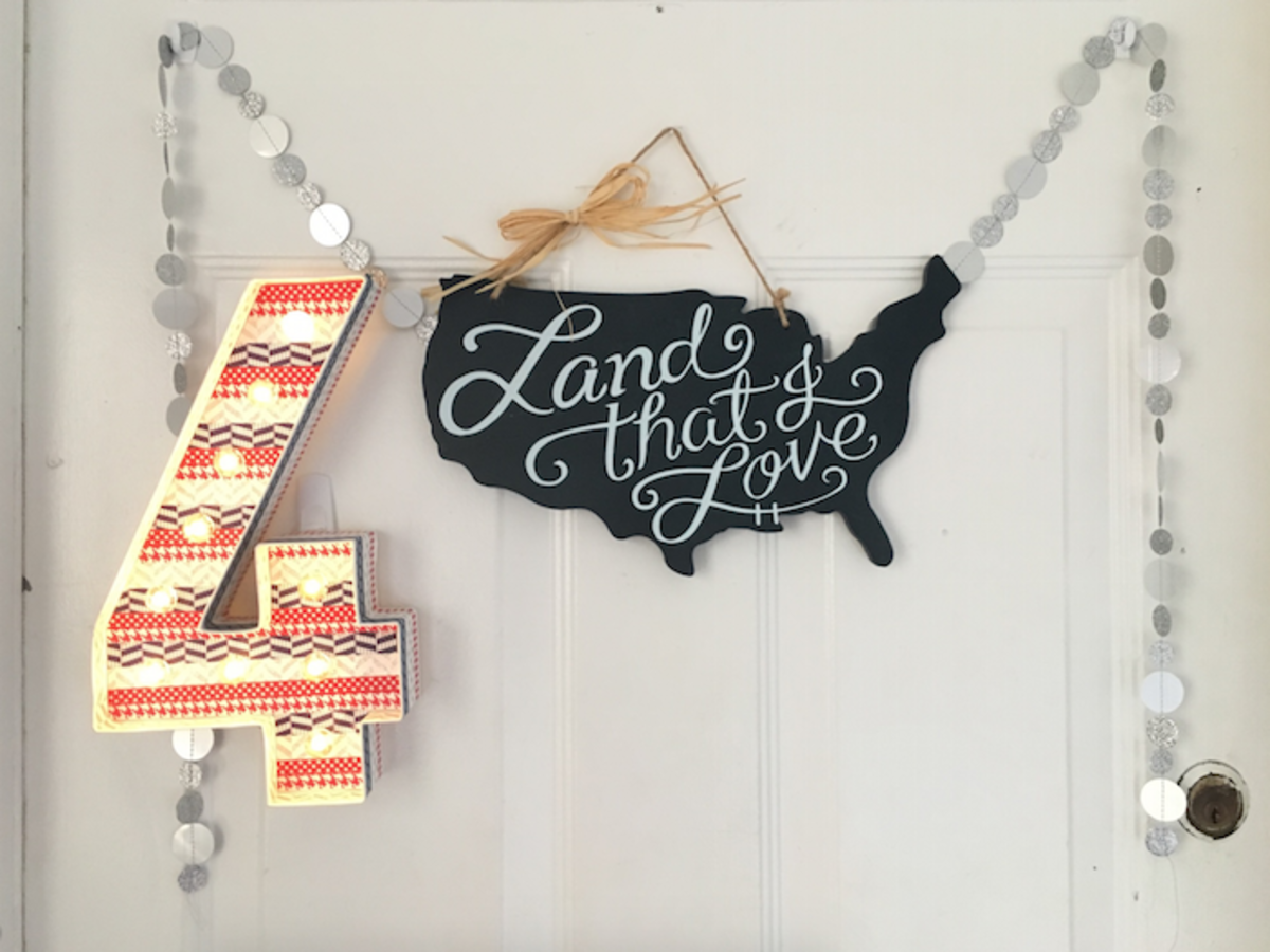 door decor 4th of july holiday easy