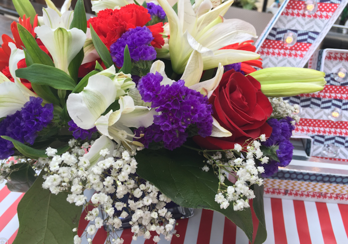 teleflora bouquet holiday 4th of july