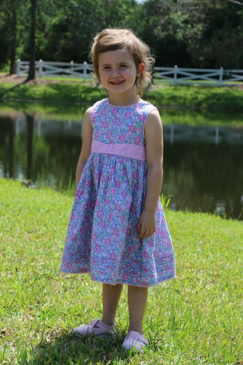 meadow print dress