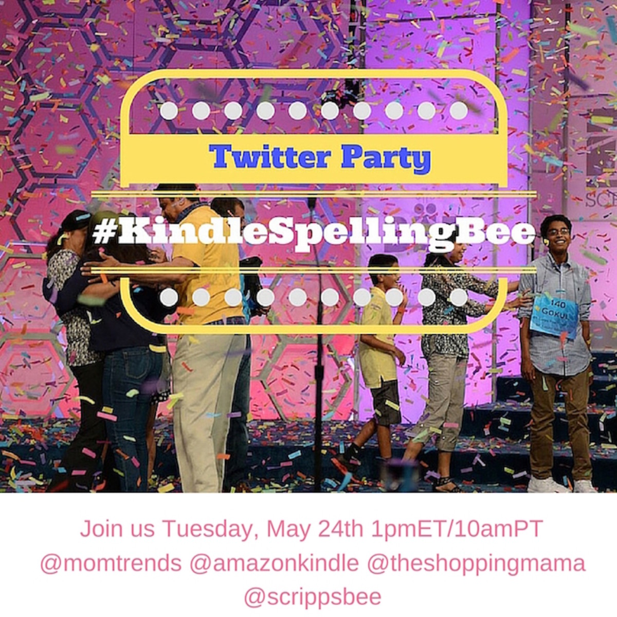 twitter party announcement