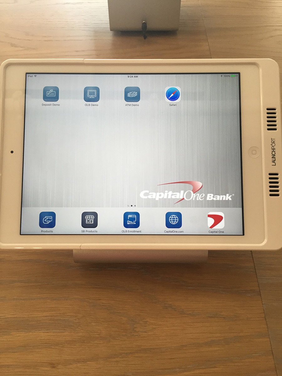 capital one tablet station