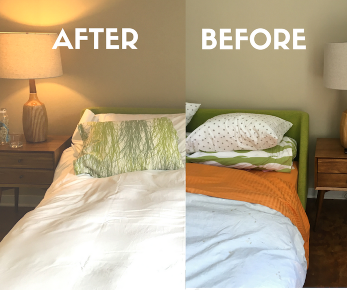 guest bed before and after