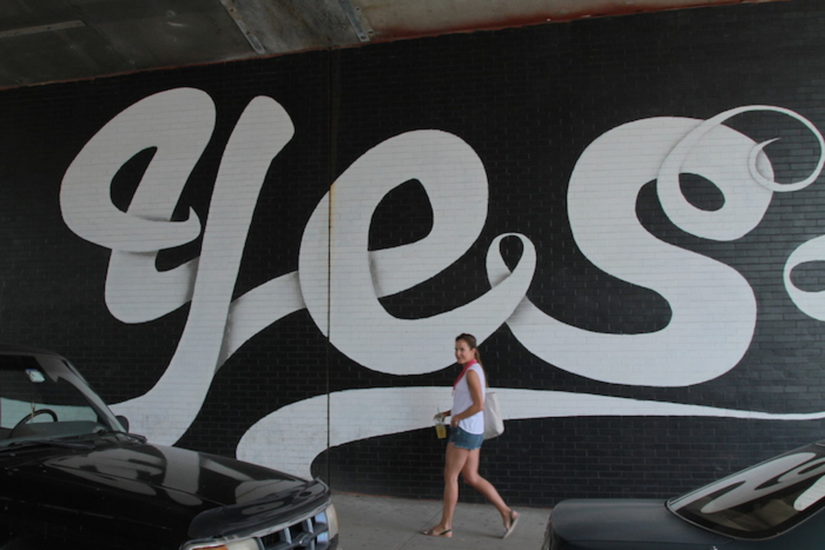 yes mural in DUMBO