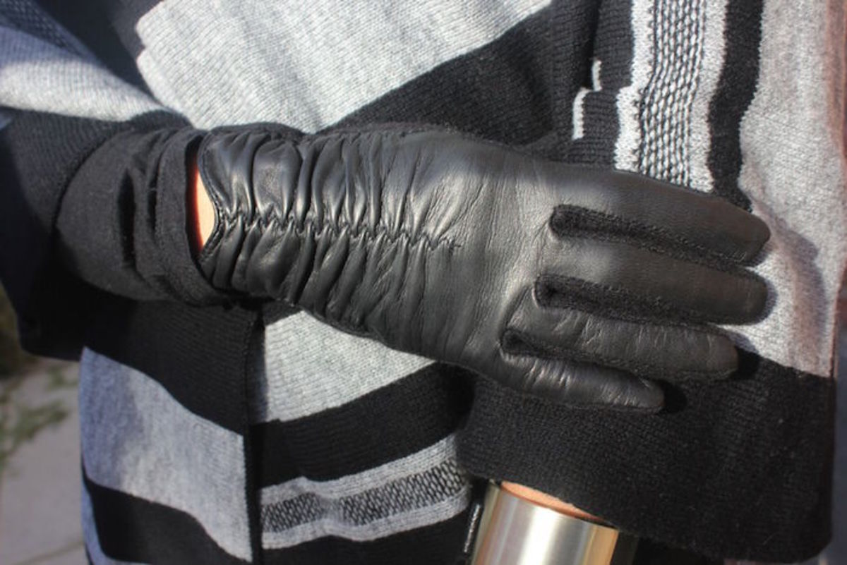 rouched gloves