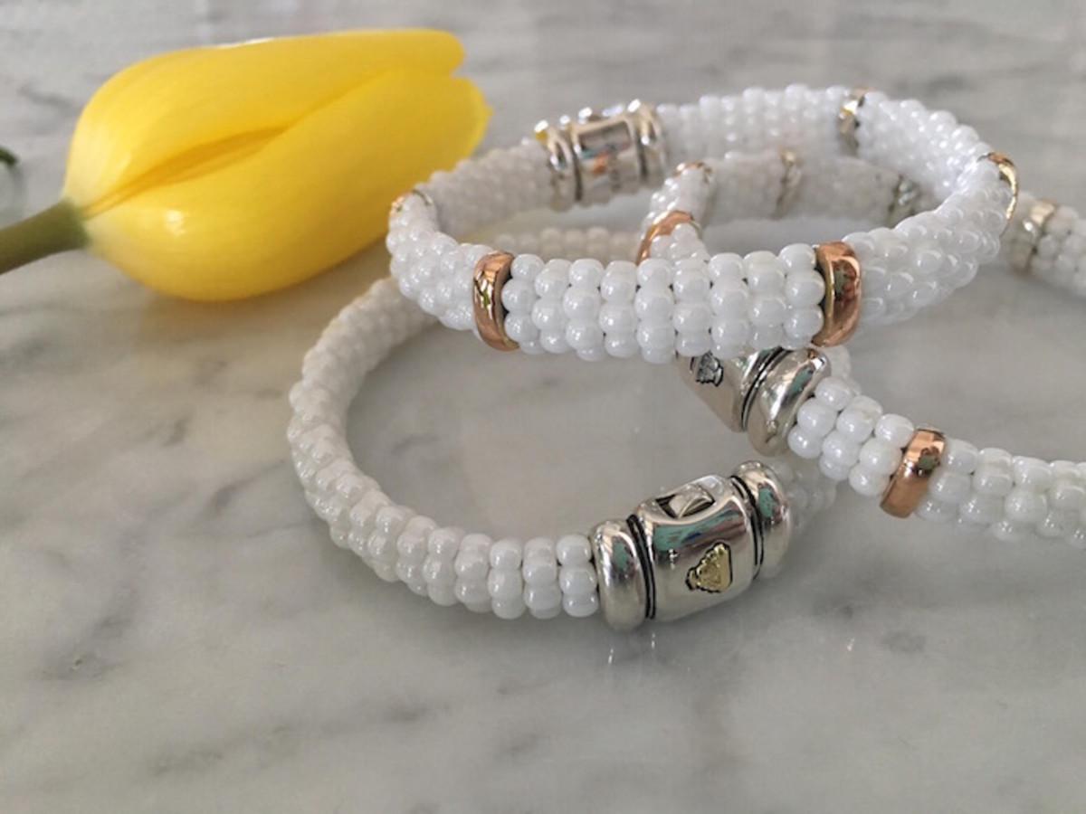 lagos whited caviar bracelets
