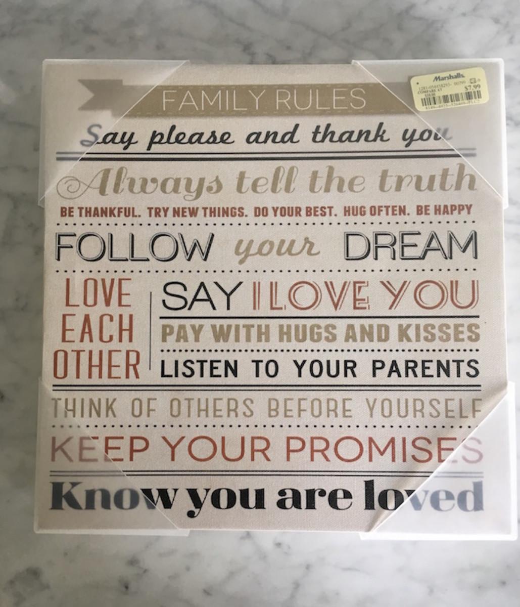 family rules art