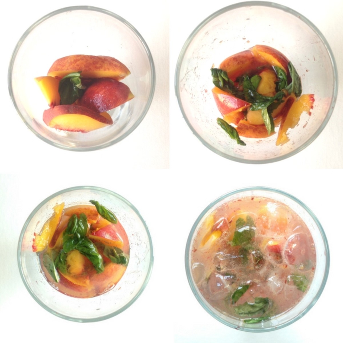 Peach Cocktail steps