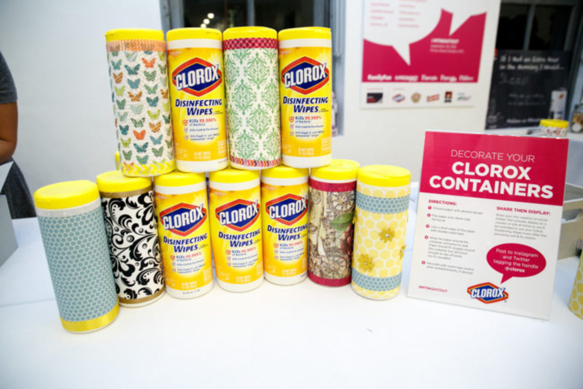 crafting with clorox wipes
