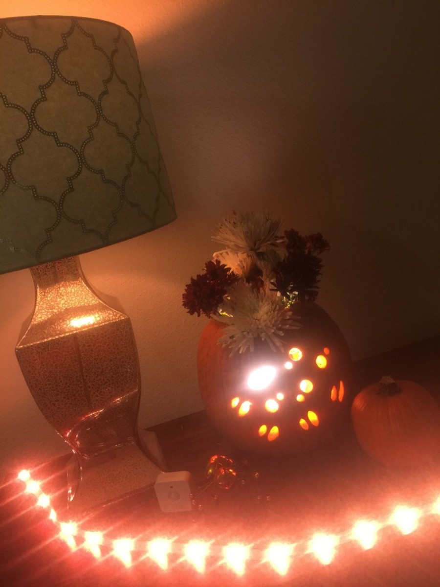 Easy halloween decorations with philips hue momtrends now you want the philips hue white and color ambiance starter kit to go along with this lighting because it comes with a bridge that allows you to aloadofball Gallery