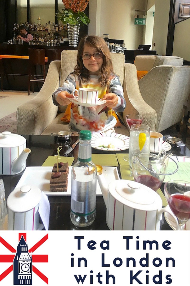 tea time in London with kids
