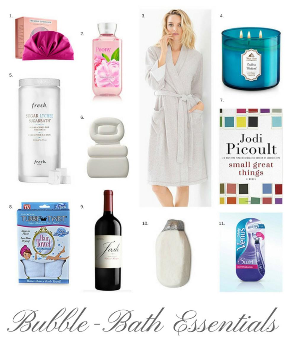 bubble bath essentials