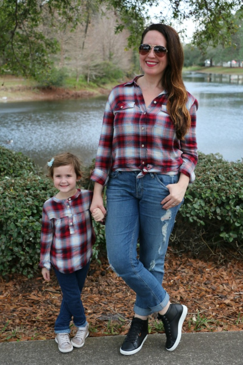 mommy and me plaid