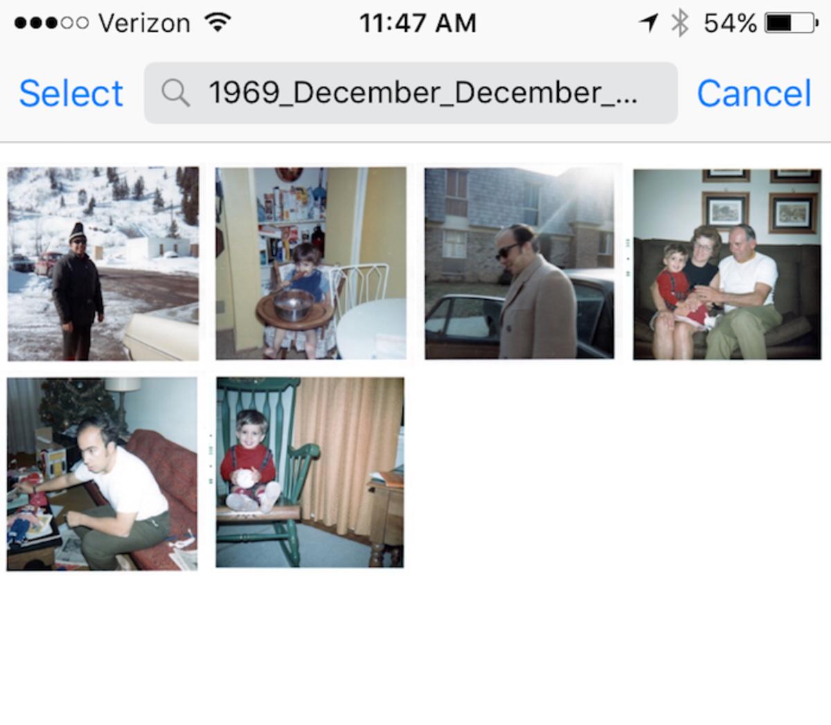 Digital Storage of Family Photos