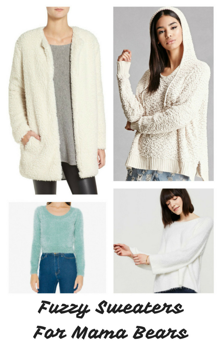 Womens Fuzzy Sweaters