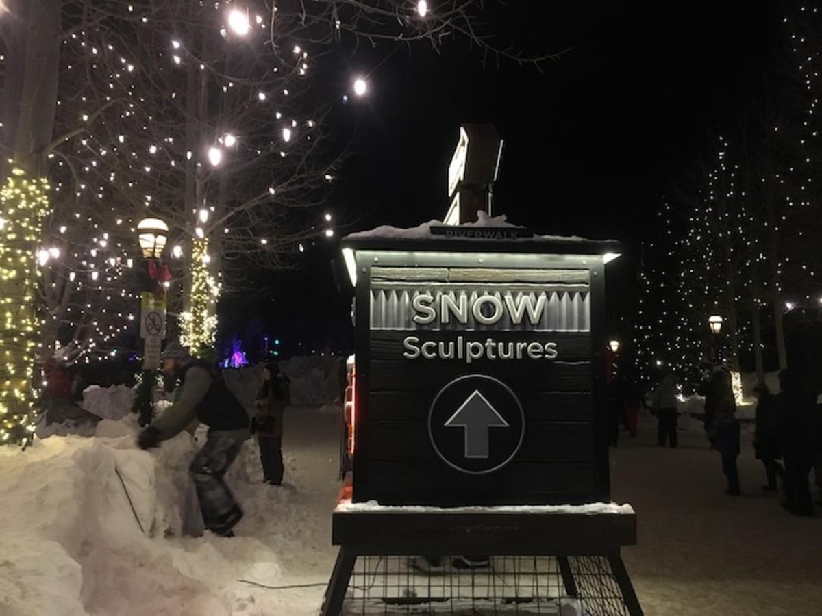 Snow Sculptures Breckenridge Colorado