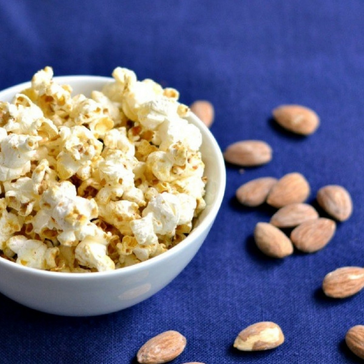 caramel and almond popcorn