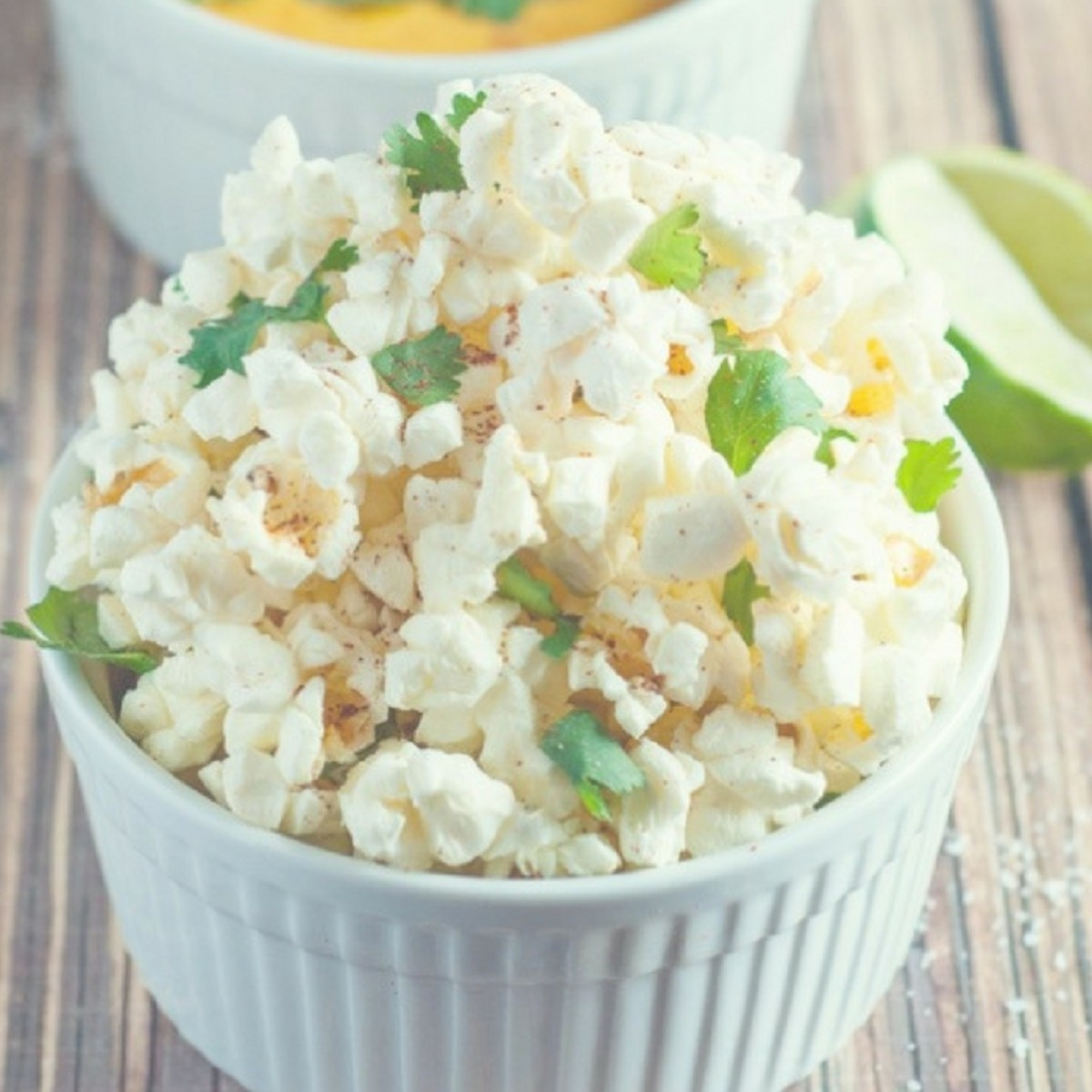 spicy cilantro lime popcorn